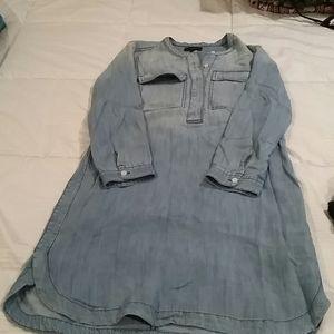 J Crew cotton denim shirt dress